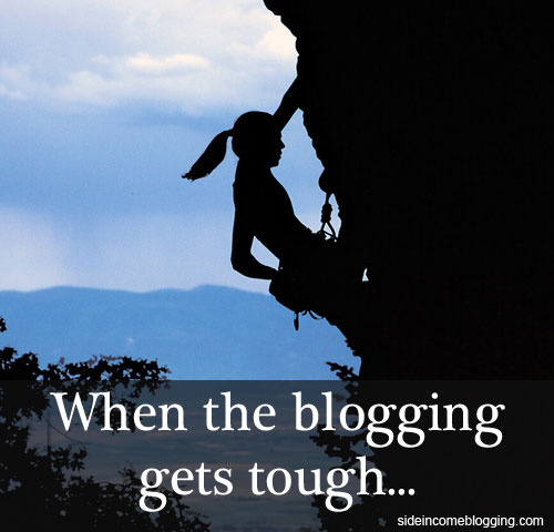 When the blogging gets tough...
