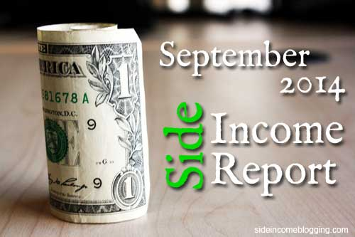 September 2014 Side Income Report