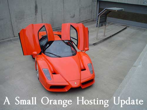 A Small Orange Hosting Update