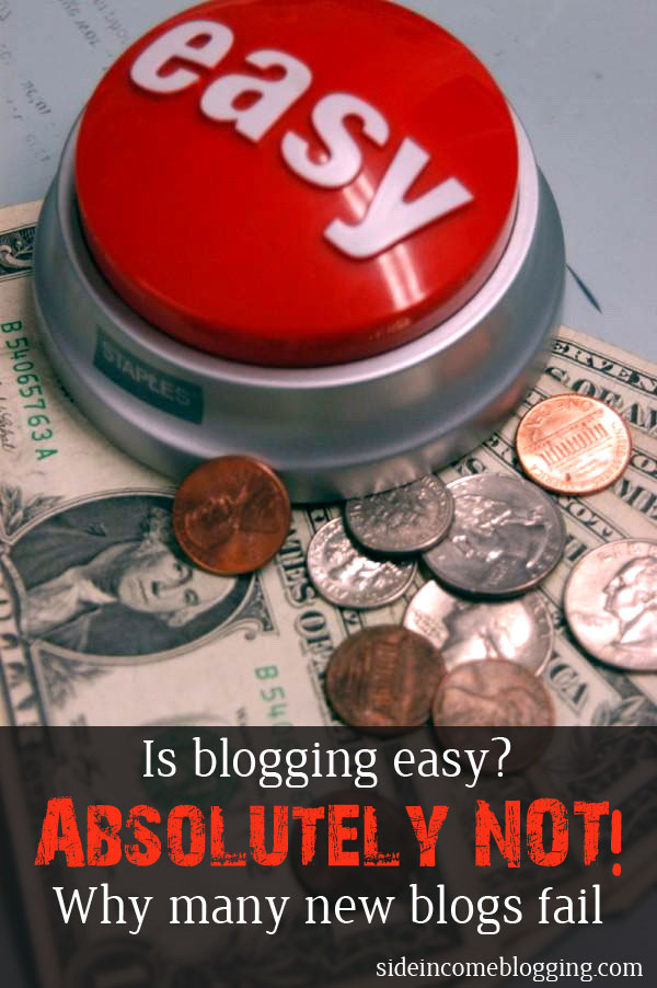 Is blogging easy?  Absolutely Not - Why many bloggers fail.   #blogging