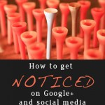 How to get noticed on Google+ and other social media