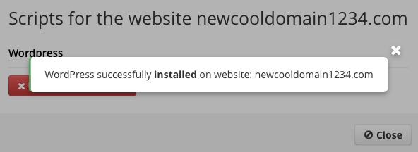 Start a Blog - WordPress Installed
