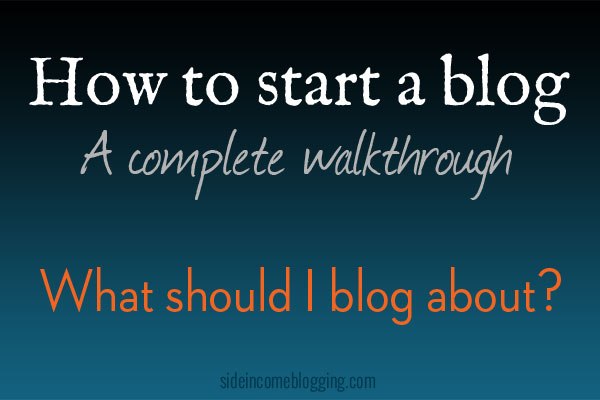 What should I blog about?